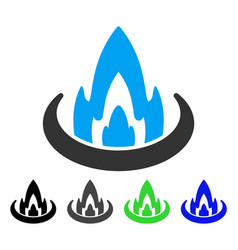 Fire location flat icon vector