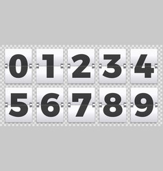 Flip numbers counter old mechanical countdown vector