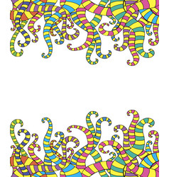 funny doodle fantasy imitation of tentacles frame vector image
