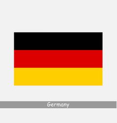 germany german national country flag banner icon vector image