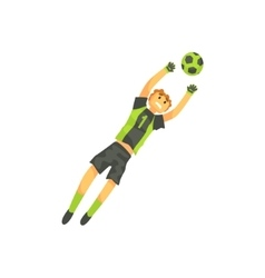 Goalkeeper Football Player Isolated vector image