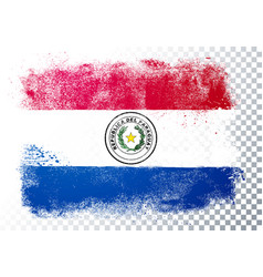 Grunge and distressed flag paraguay vector