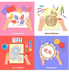 handmade 2x2 design concept vector image