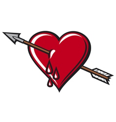 heart with arrow design vector image