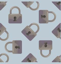 lock seamless pattern vector image