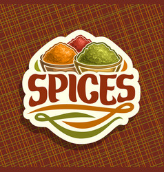 Logo for spices vector