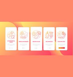 Melanoma abcde symptoms onboarding mobile app vector
