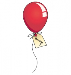 message balloon vector image