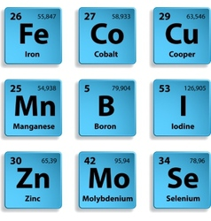 Microelements vector image