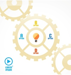 Modern cogwheel presentation template vector image