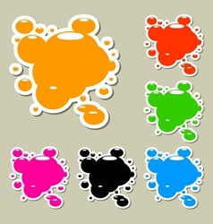 Multicolored blots Set vector image