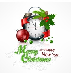 New Year click on white vector