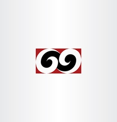 number sixty nine 69 logo icon element design sign vector image
