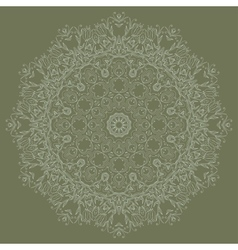 Ornamental round lace pattern vector