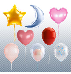 party balloons set vector image