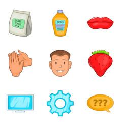 propagator icons set cartoon style vector image