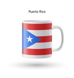 Puerto Rico flag souvenir mug on white background vector