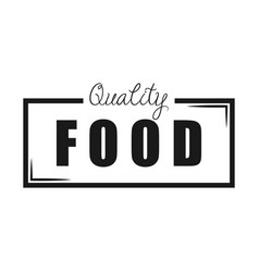 quality food white background vector image vector image