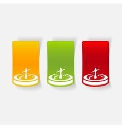 realistic design element roulette vector image