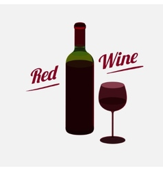 Red wine a bottle poster vector image