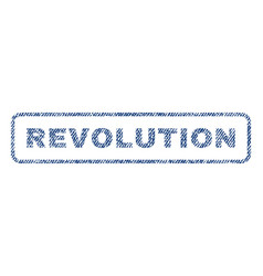 Revolution textile stamp vector