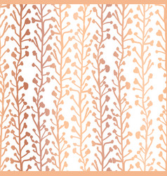 rose gold foil nature background seamless vector image