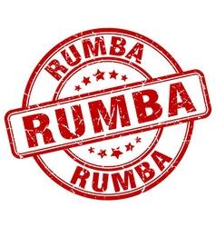 Rumba red grunge round vintage rubber stamp vector