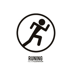 Running design fitness concept white background vector image
