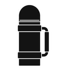 Safari hunting thermos bottle icon simple style vector