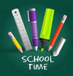 school time composition vector image