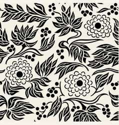 seamless floral pattern 3 vector image