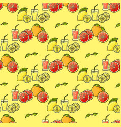 seamless pattern of colorful fruit juice vector image vector image