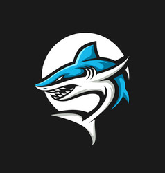 Shark esport gaming mascot logo template vector