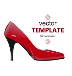 Shoes with stiletto heel isolated on white vector