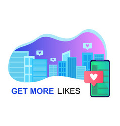 Social media in city online friends lifestyle vector