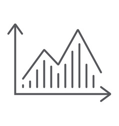 stock chart thin line icon graph and finance vector image