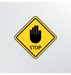 Stop sign icon vector