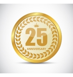 Template Logo 25 Years Anniversary vector