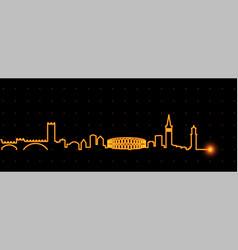 verona light streak skyline vector image