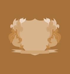 vintage background of invitation card element vector image
