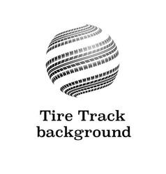 Waves tire tracks vector