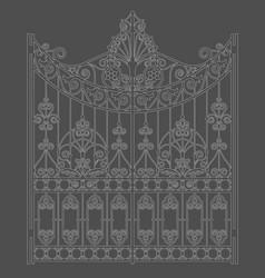 White vintage gate vector