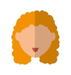Woman head icon Person design graphic vector