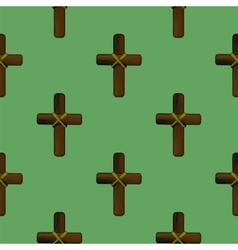 Wood Cross Seamless Pattern vector