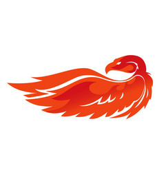 flame phoenix emblem vector image