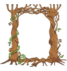 tree shaped photo frame vector image