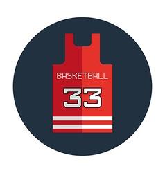 Basketball Shirt Design Template vector image