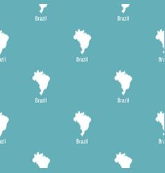 brazil map in black simple vector image