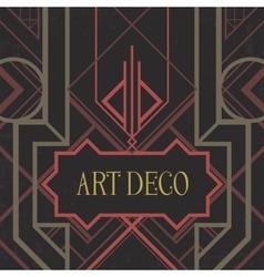 Dark artdeco abstract geometric background vector image