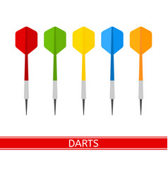 darts isolated vector image